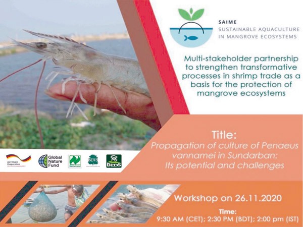"""Webinar on """"Propagation of culture of  Penaeus vennamei in Sundarban: its potential and challenges"""""""